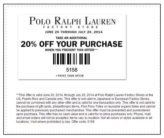 polo ralph lauren in store printable coupons dr e horn gmbh dr e horn gmbh. Black Bedroom Furniture Sets. Home Design Ideas